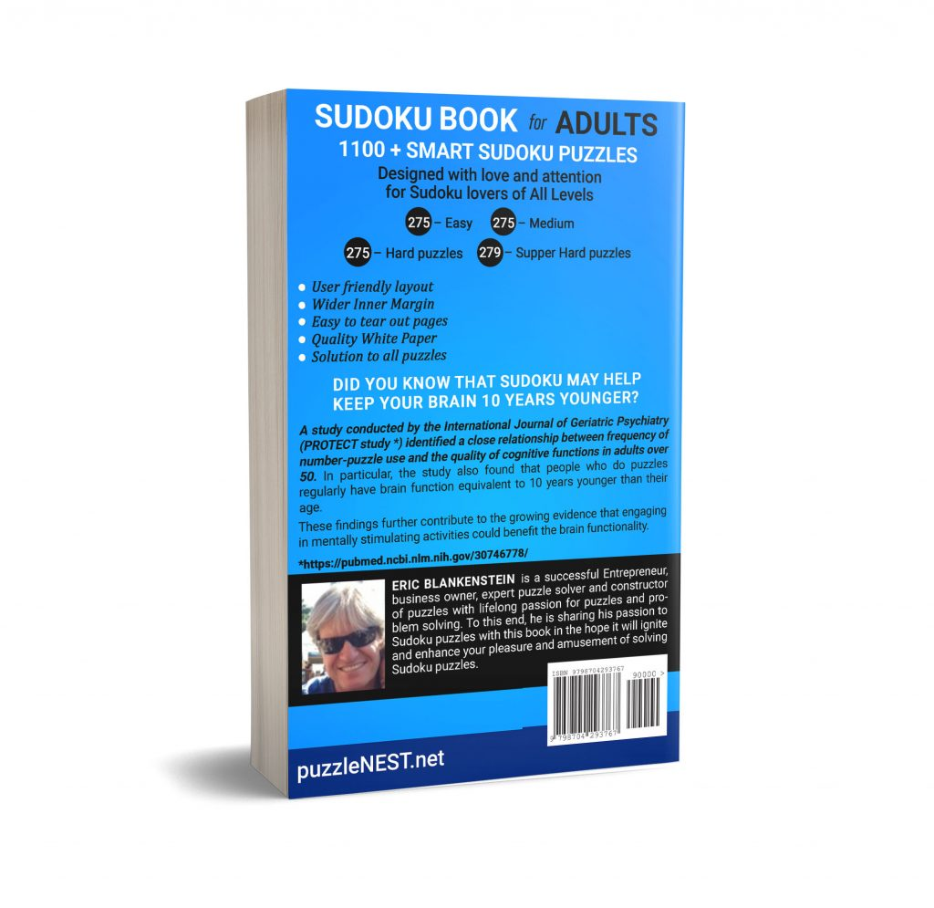 Soduko Book For Adults